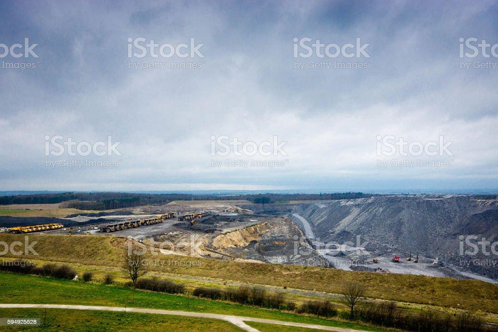 Cramlington quarry stock photo