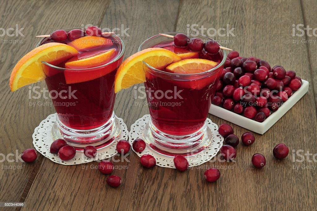 Cranberry and Orange Health Drink stock photo