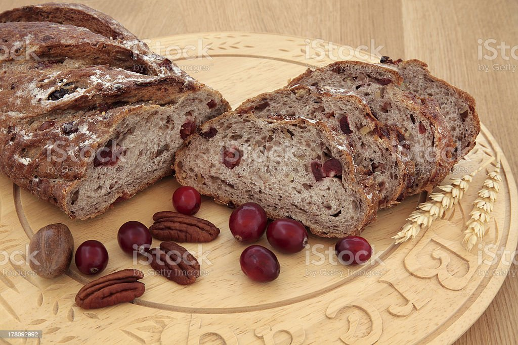Cranberry and Pecan Bread royalty-free stock photo