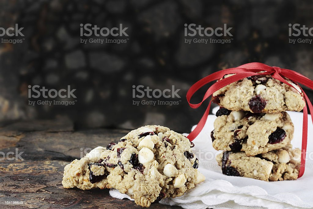 Cranberry and White Chocolate Chip Cookies stock photo
