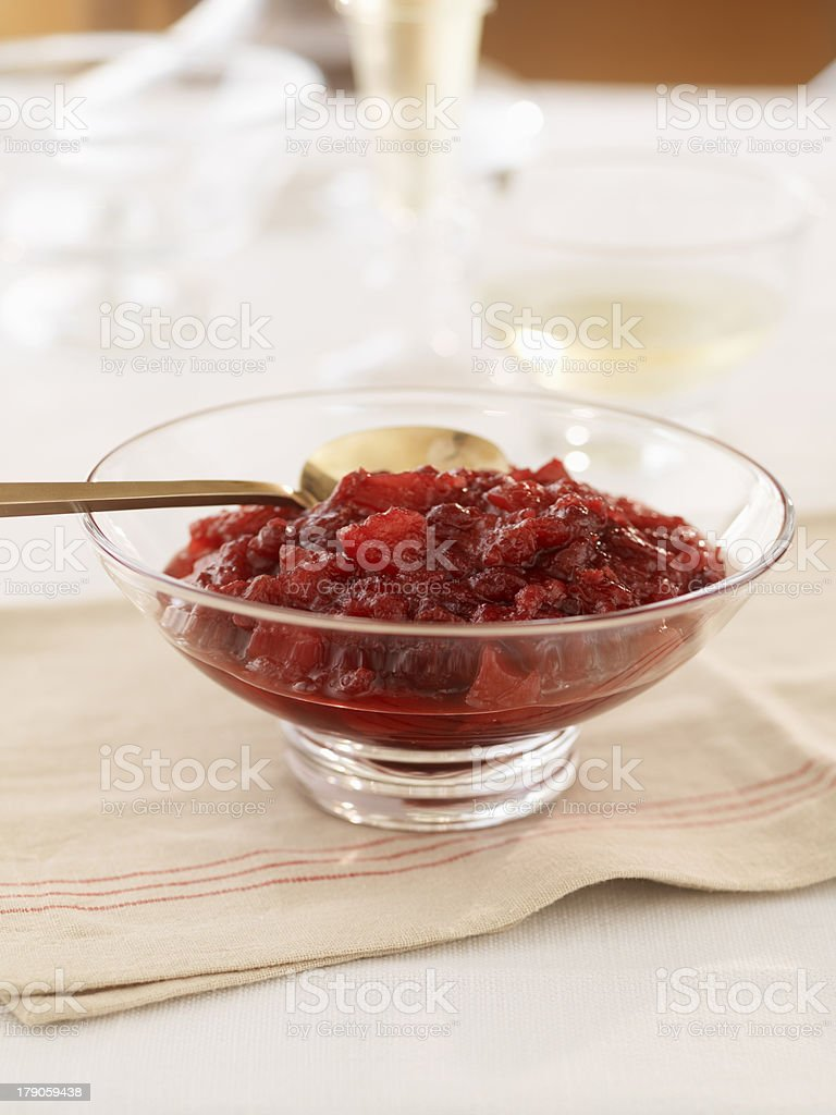 Cranberry Apple Sauce royalty-free stock photo