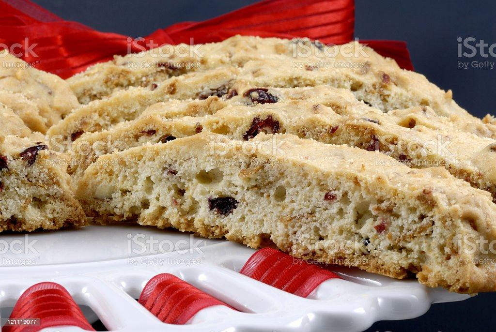 Cranberry Biscotti royalty-free stock photo