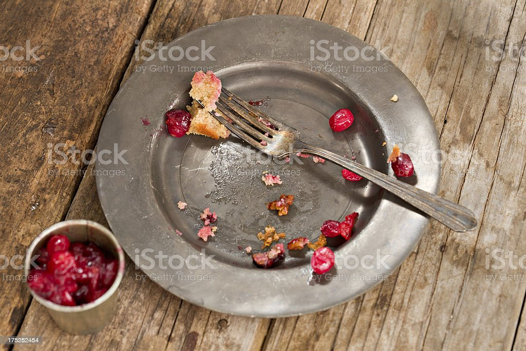 Cranberry Cake All Gone stock photo