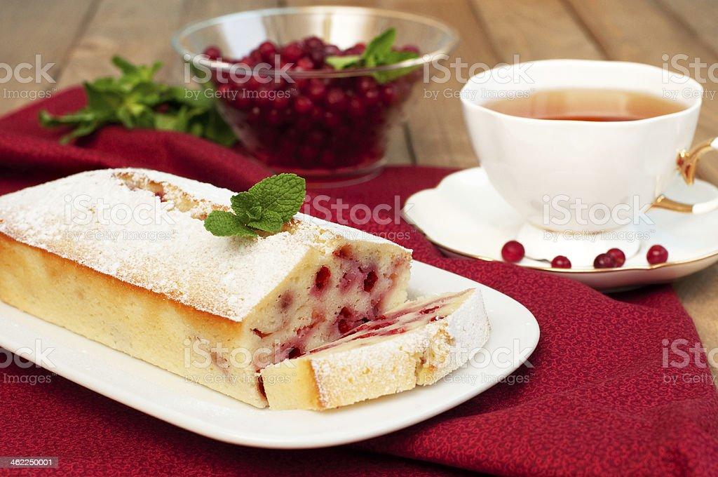 Gâteau de cranberry photo libre de droits