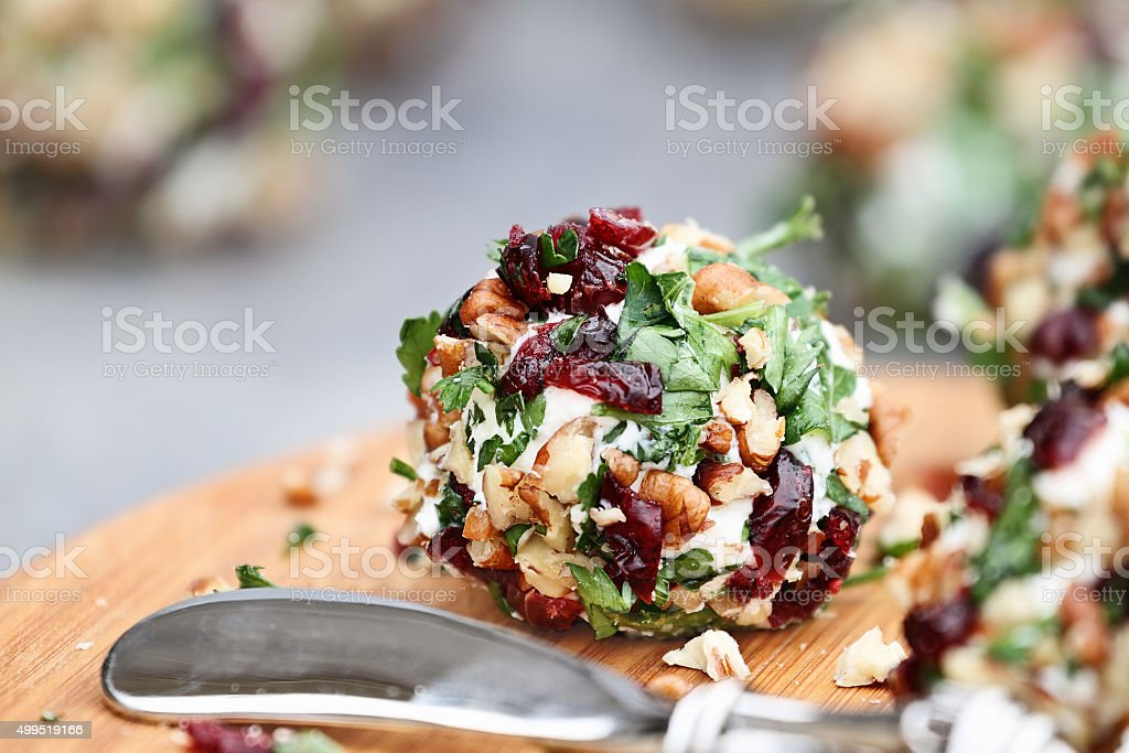 Cranberry Cheese Ball stock photo
