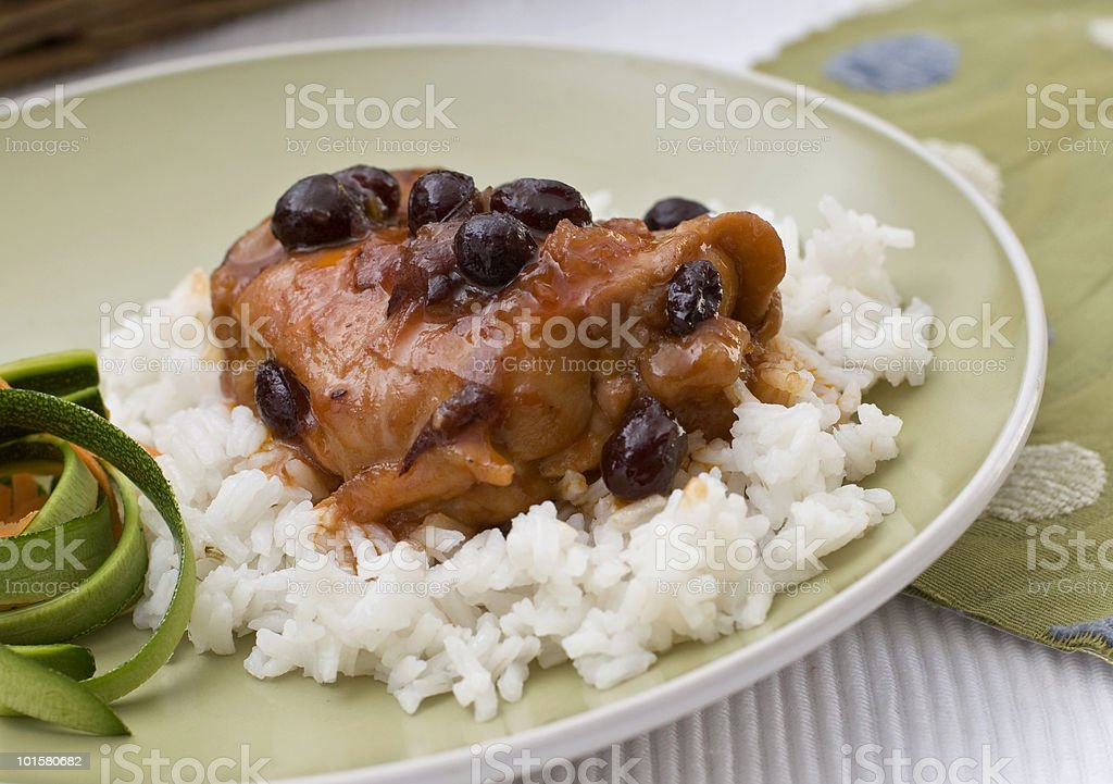 Cranberry Chicken royalty-free stock photo