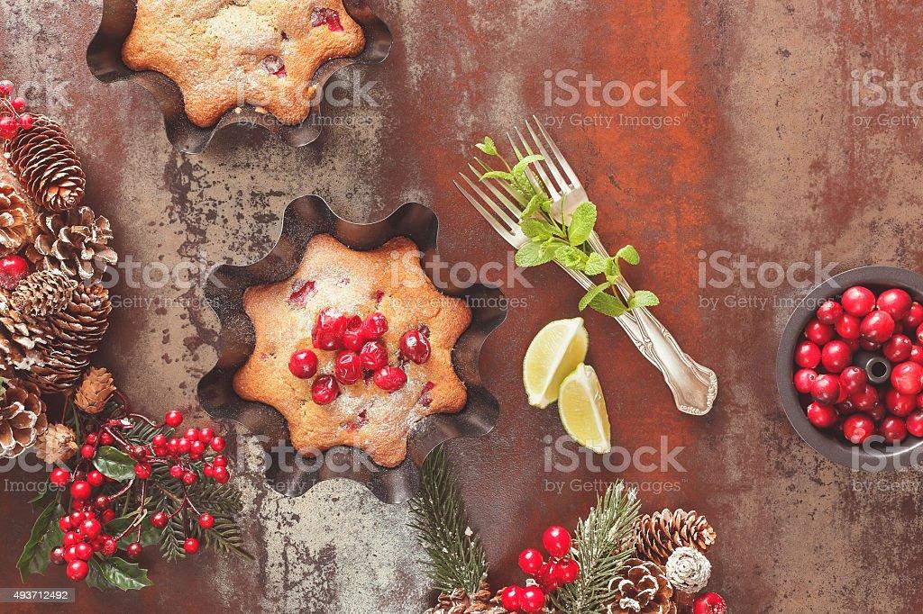Cranberry Christmas  cake stock photo