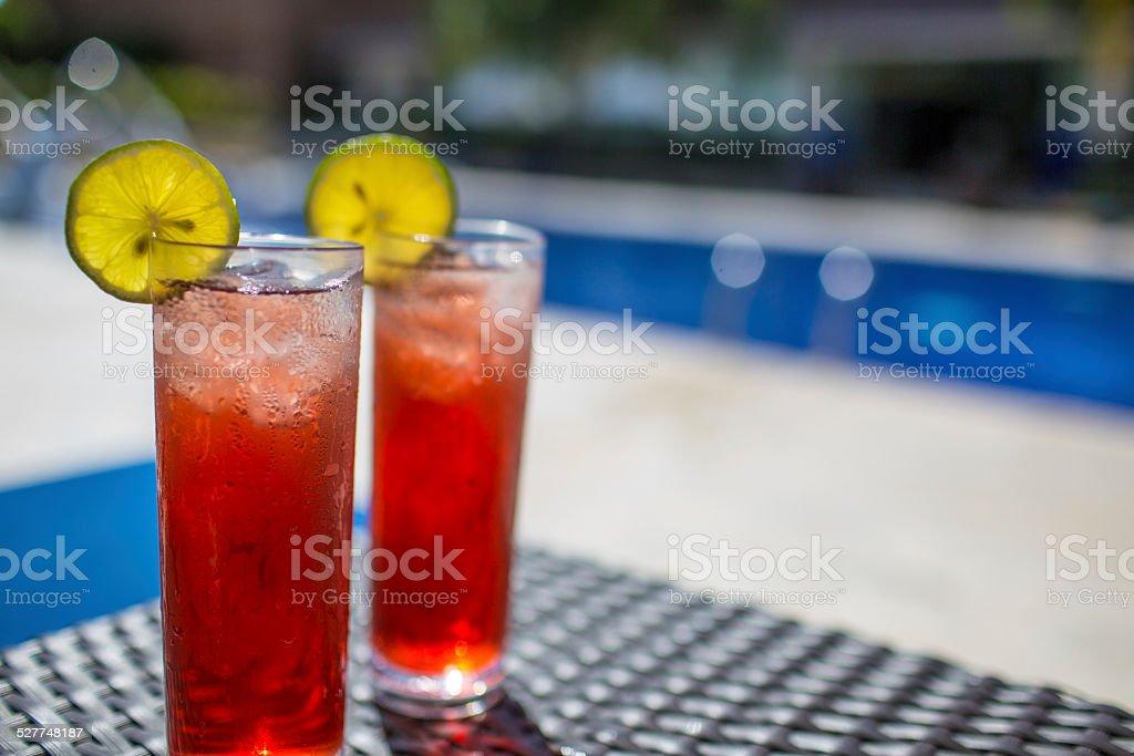 Cranberry cocktails stock photo