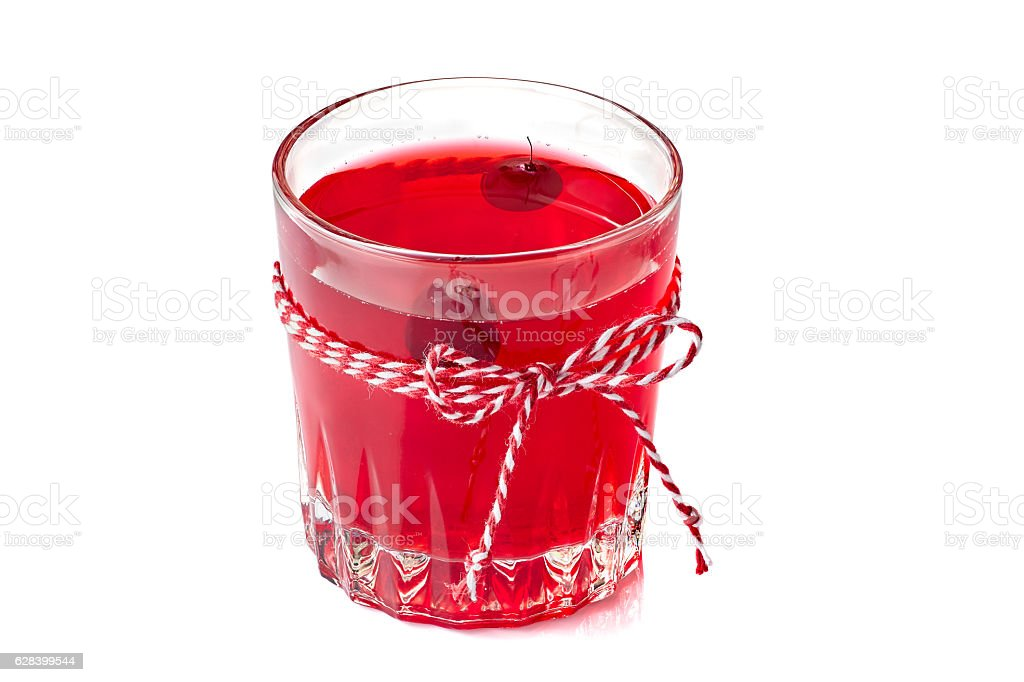 Cranberry fruit drink on white stock photo