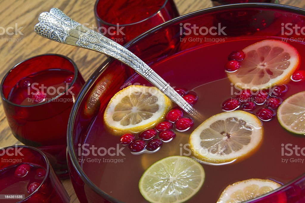 Cranberry Holiday Punch stock photo