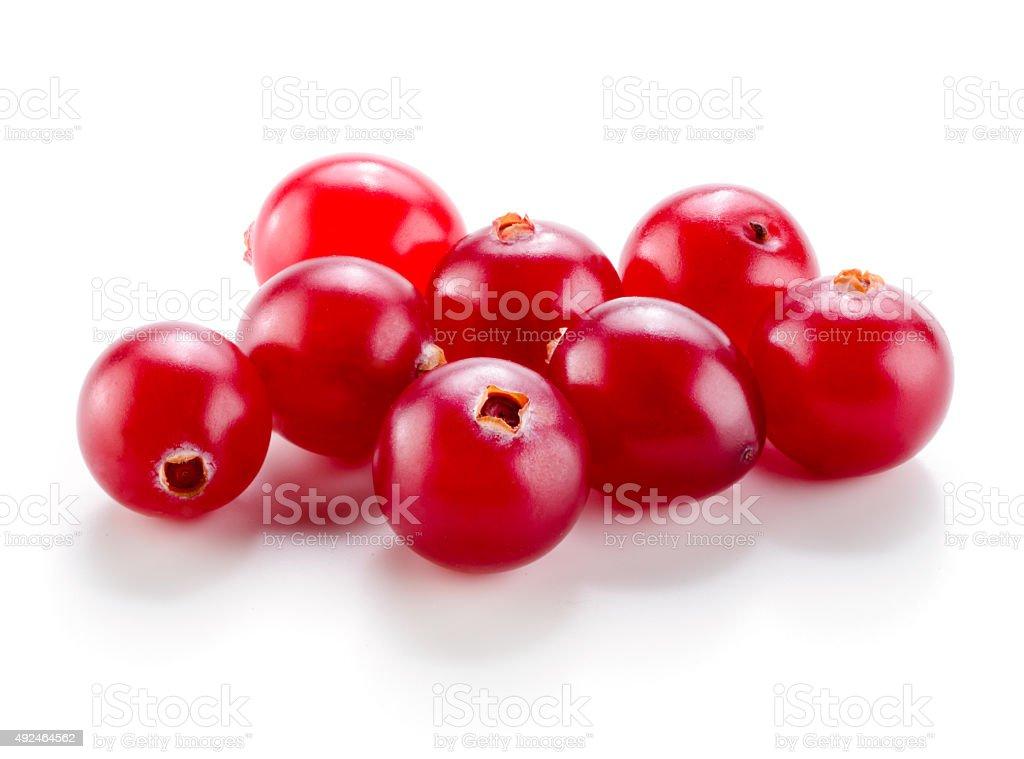 Cranberry isolated on white background. stock photo