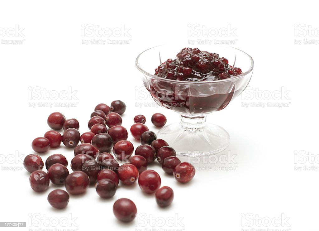 Cranberry jam royalty-free stock photo