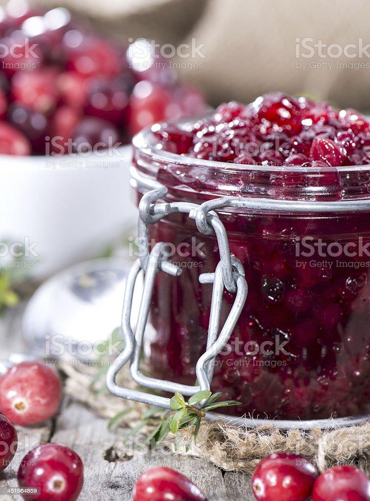 Cranberry Jam royalty-free stock photo