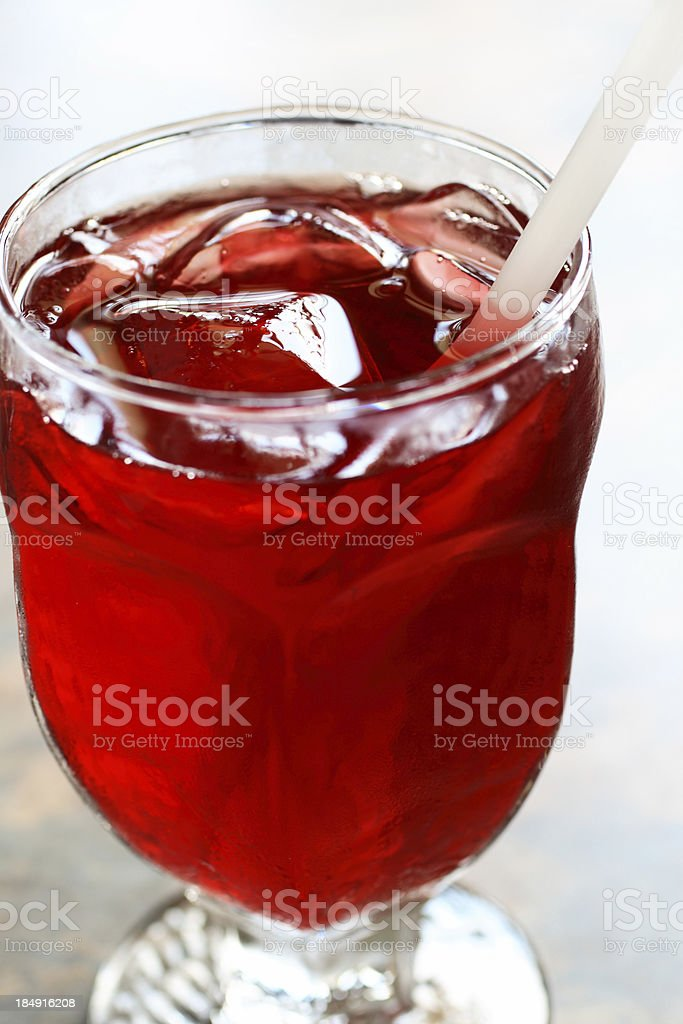 Cranberry Juice Macro stock photo