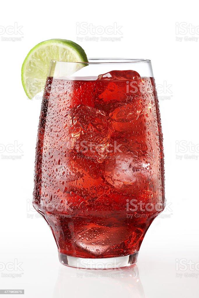 Cranberry Juice on white stock photo