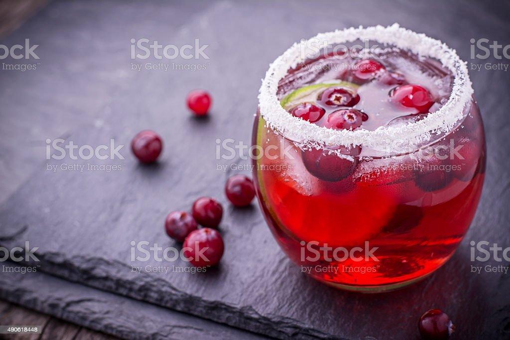 Cranberry mojito stock photo