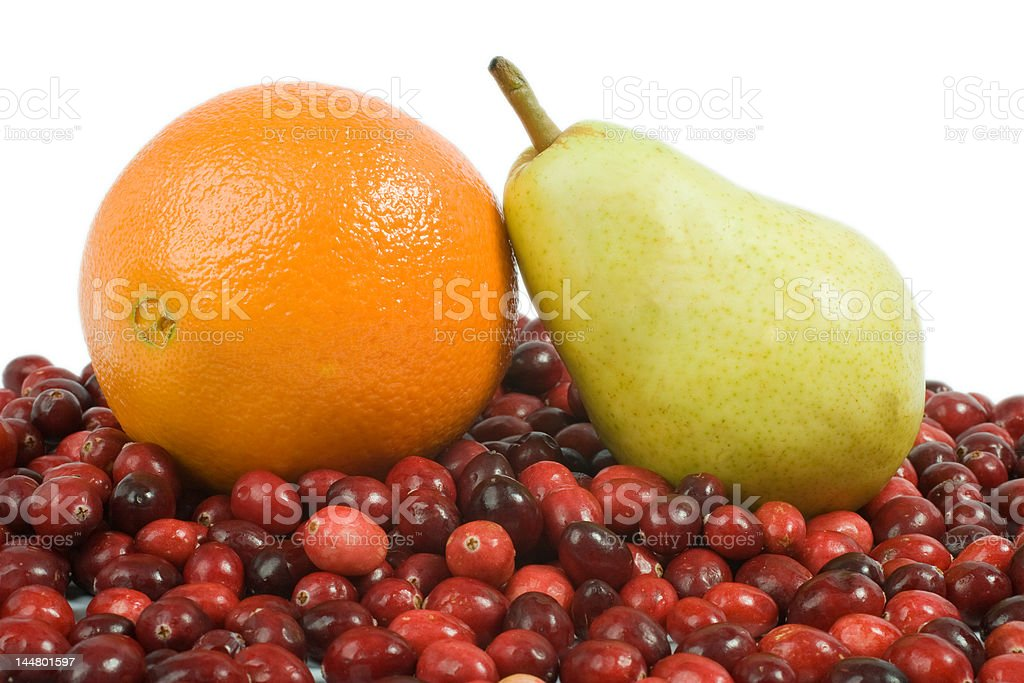Cranberry, Orange and Pear royalty-free stock photo