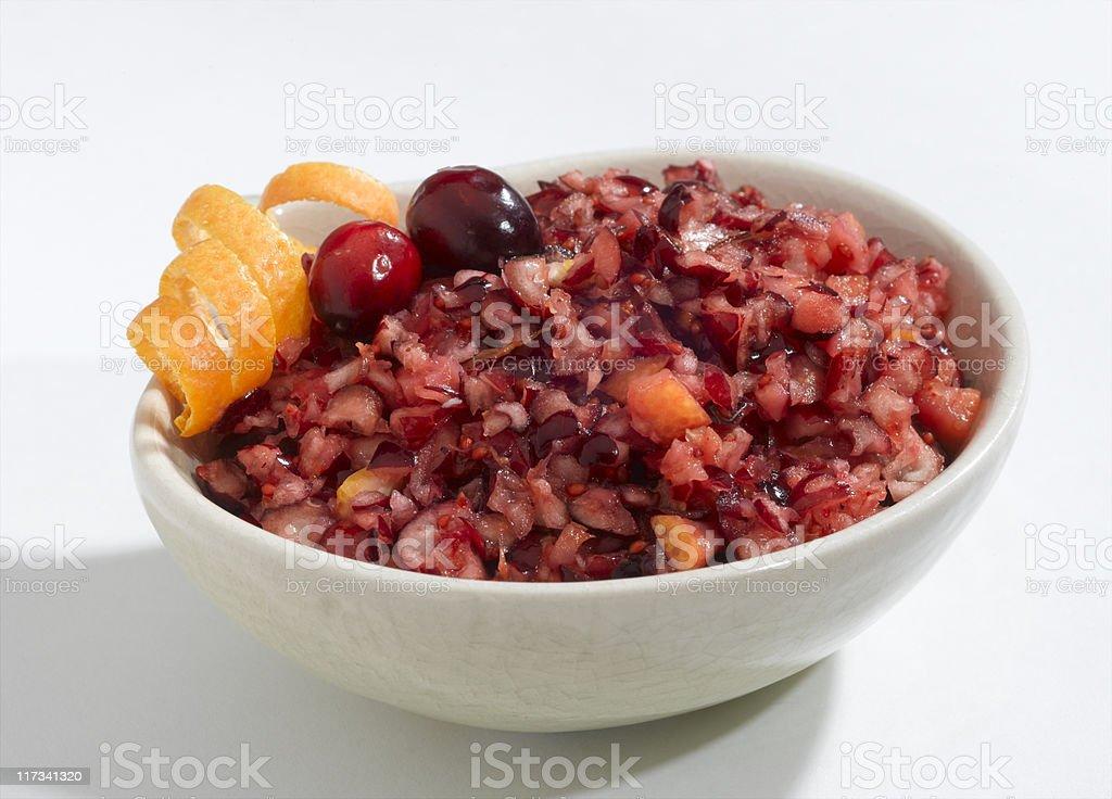 Cranberry Orange Relish stock photo