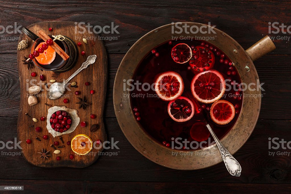 Cranberry punch stock photo