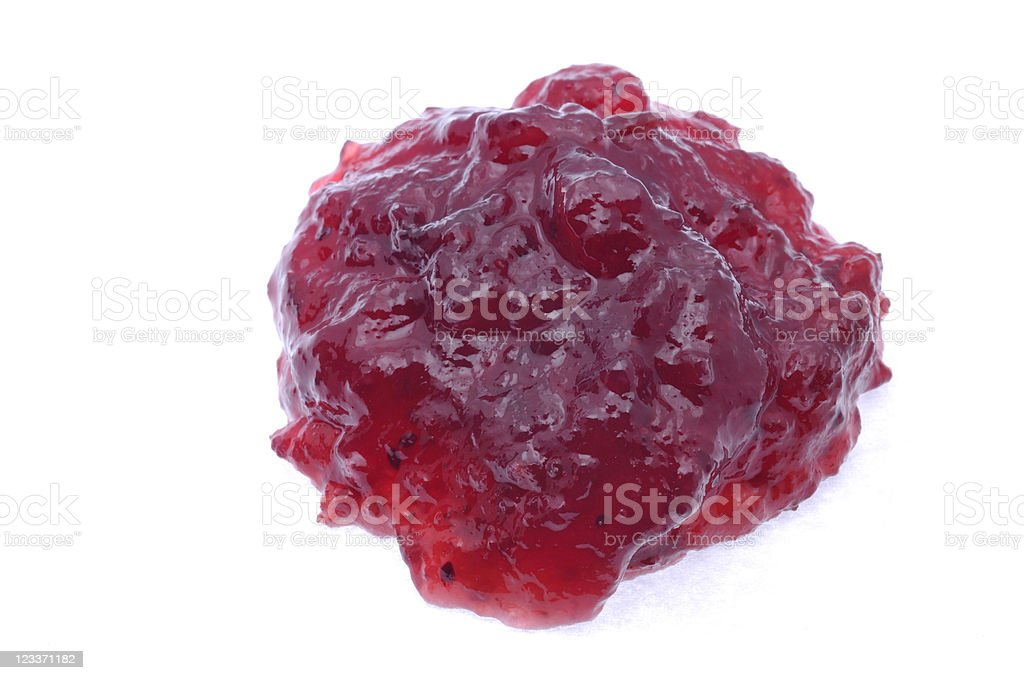 Cranberry Sauce from above royalty-free stock photo