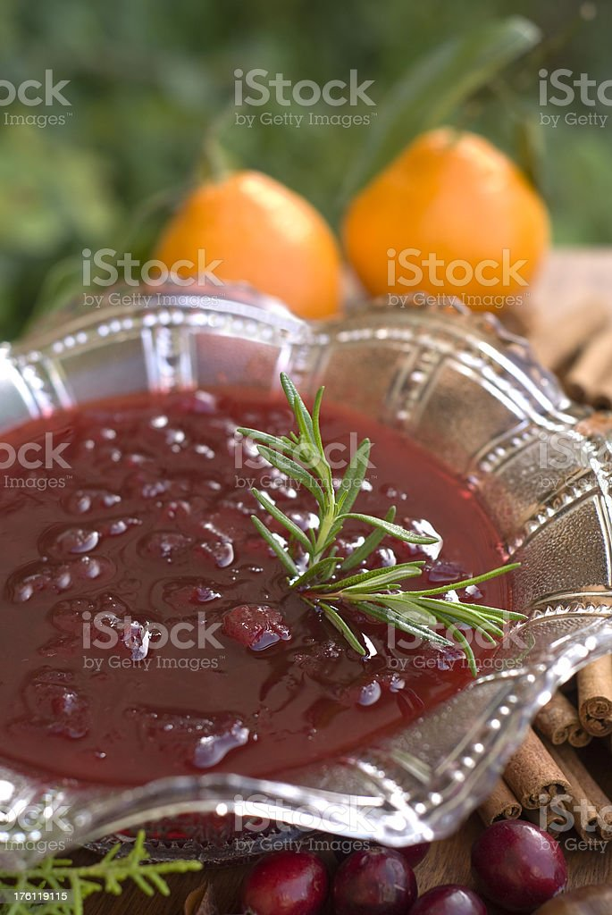 Cranberry Sauce Ingredients for Cooking Thanksgiving & Christmas Holiday Food royalty-free stock photo