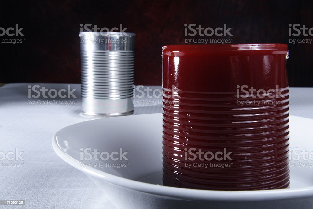 Cranberry Sauce / Jellied Cranberries royalty-free stock photo