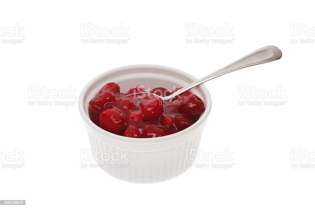 Cranberry sauce stock photo