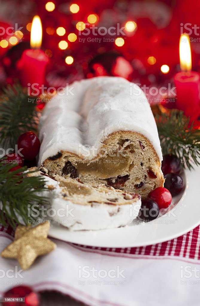 Cranberry stollen royalty-free stock photo