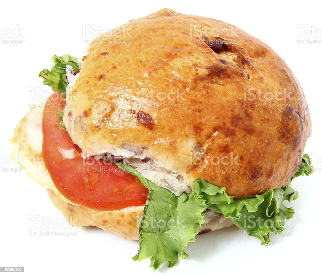 Cranberry Turkey Sandwich royalty-free stock photo