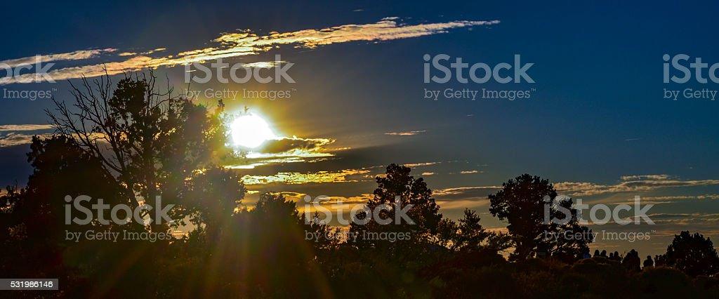 Crand Canyon Sunset stock photo