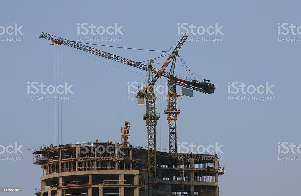 Crane 03 royalty-free stock photo