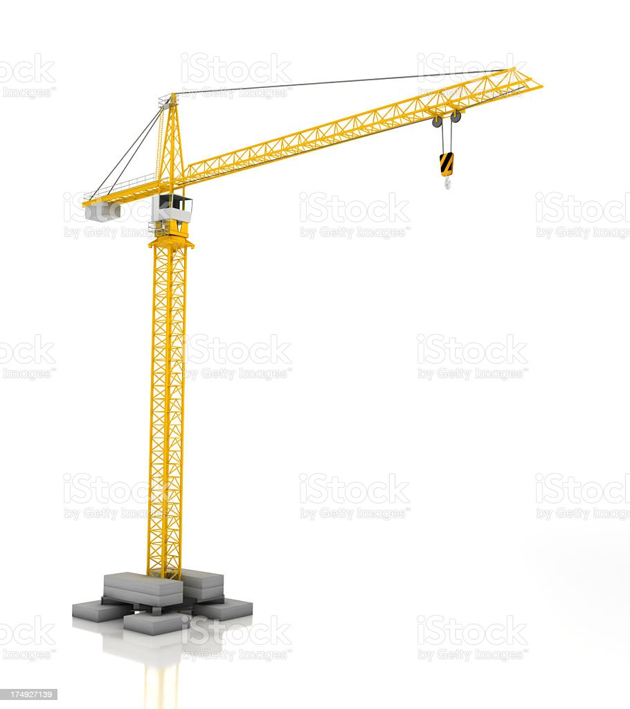 Crane, 3d render stock photo