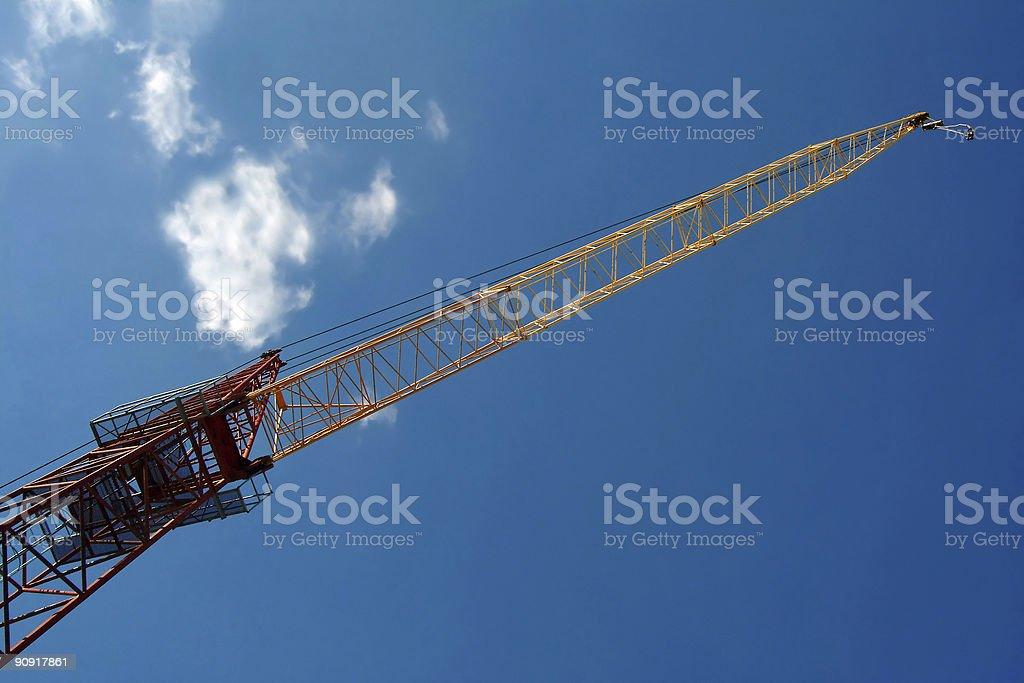 Crane against blue sky royalty-free stock photo