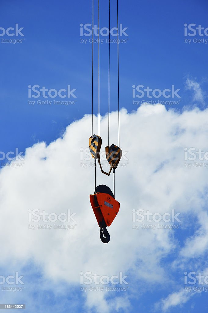 Crane against cloud royalty-free stock photo