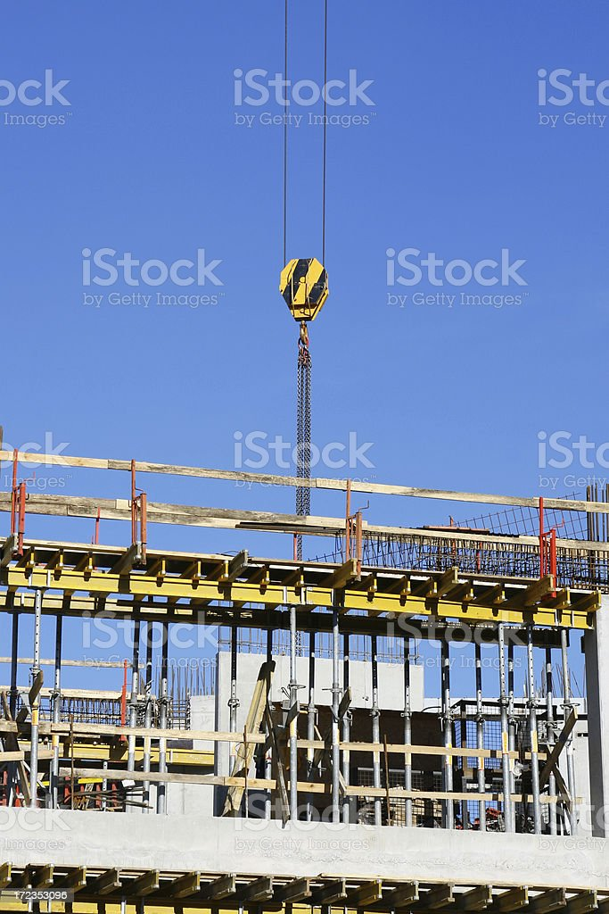 Crane and building construction royalty-free stock photo