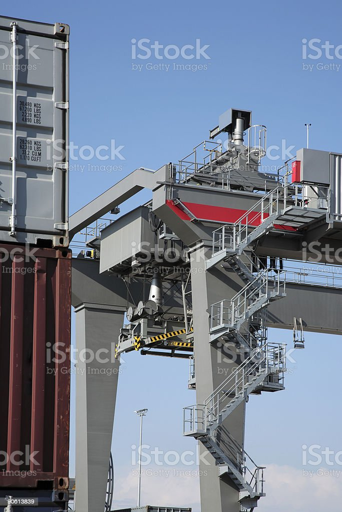 Crane and Cargo Containers royalty-free stock photo
