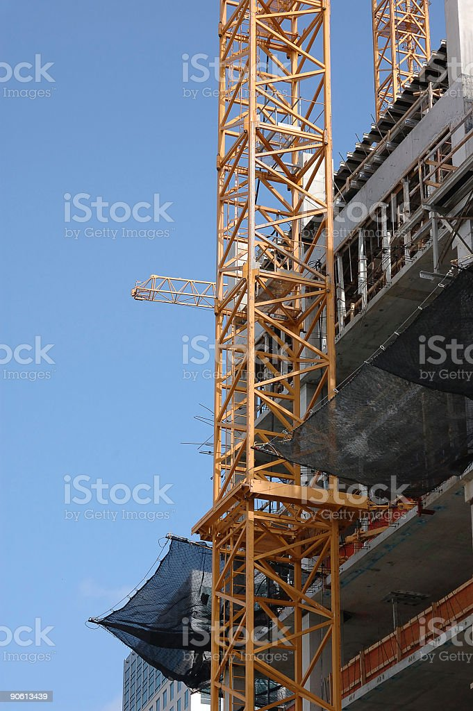 crane and construction detail royalty-free stock photo