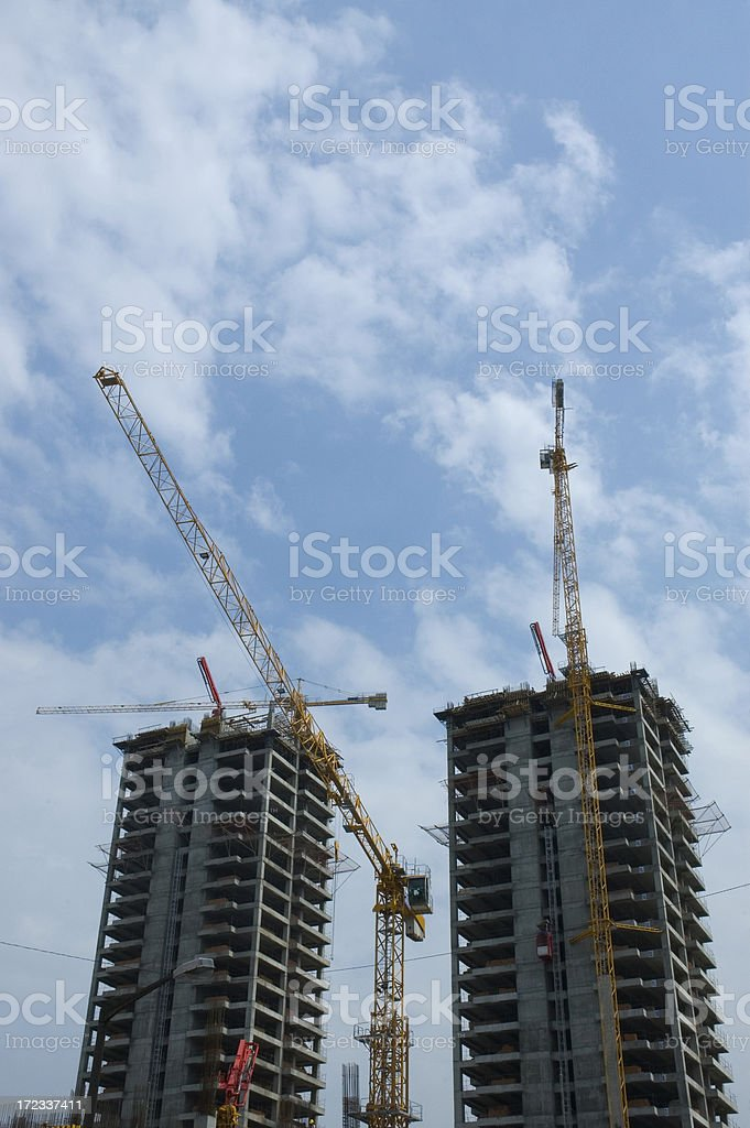 crane and construction royalty-free stock photo