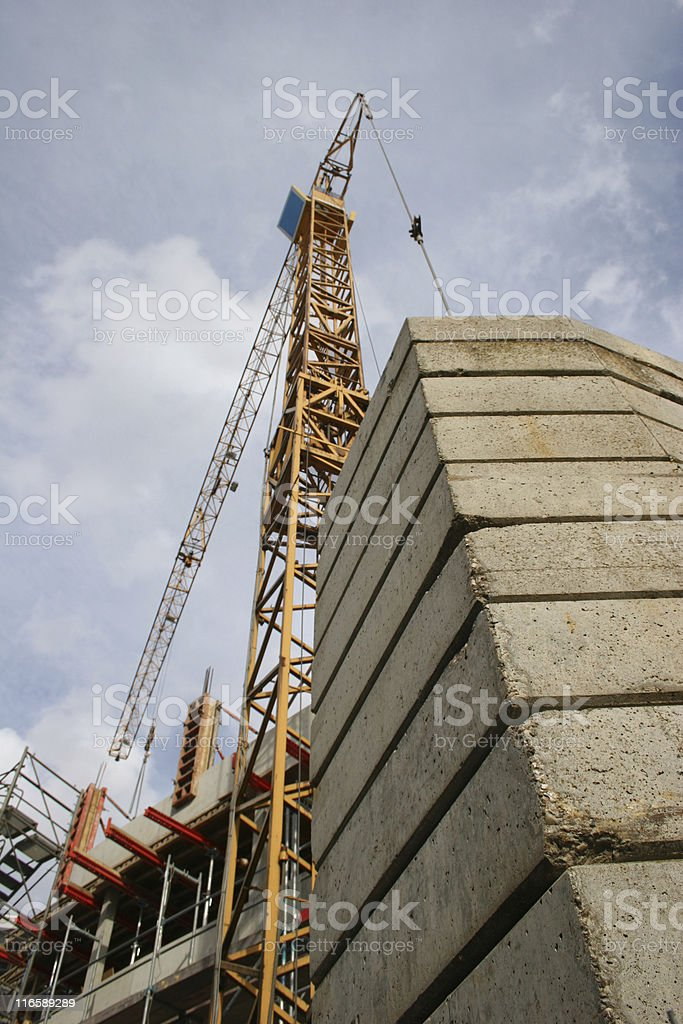 Crane at a construction site royalty-free stock photo