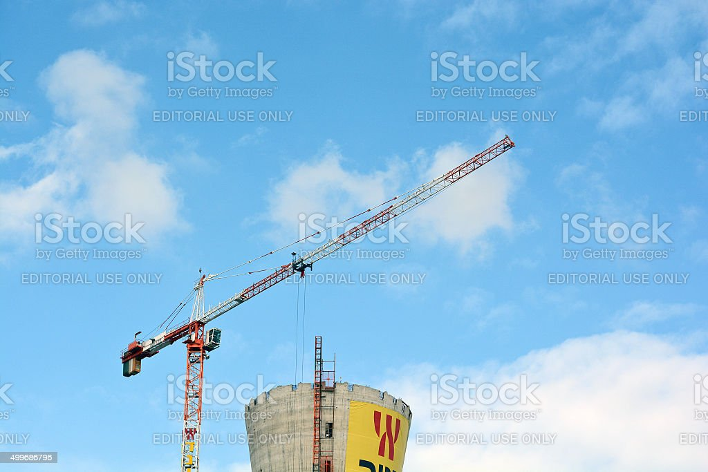 crane at the construction stage stock photo