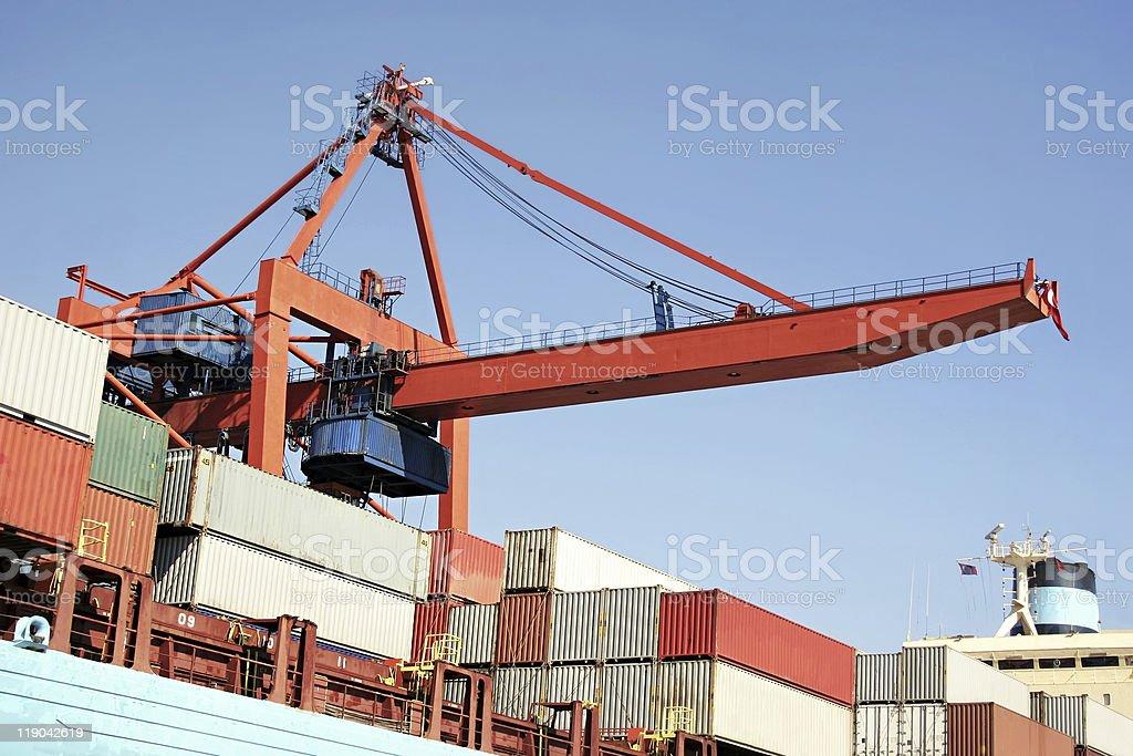 Crane bridge royalty-free stock photo