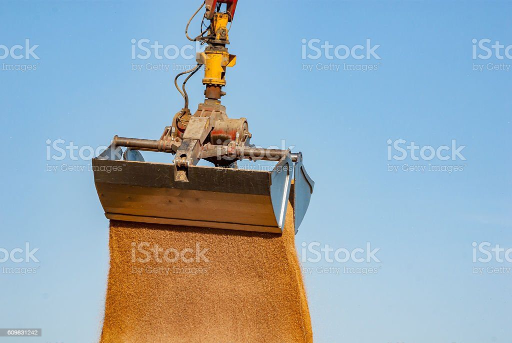 crane bucket stock photo