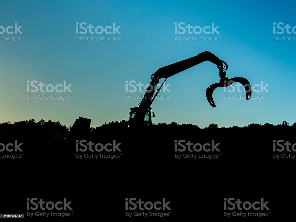 Crane claw stock photo