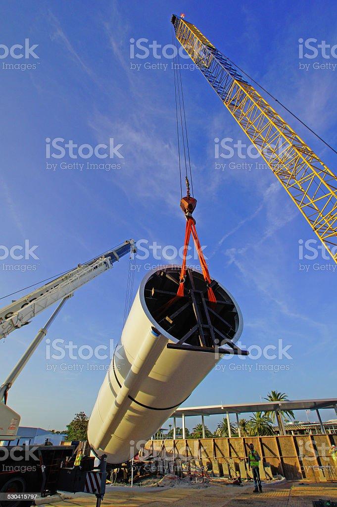 Crane Construction Structure stock photo
