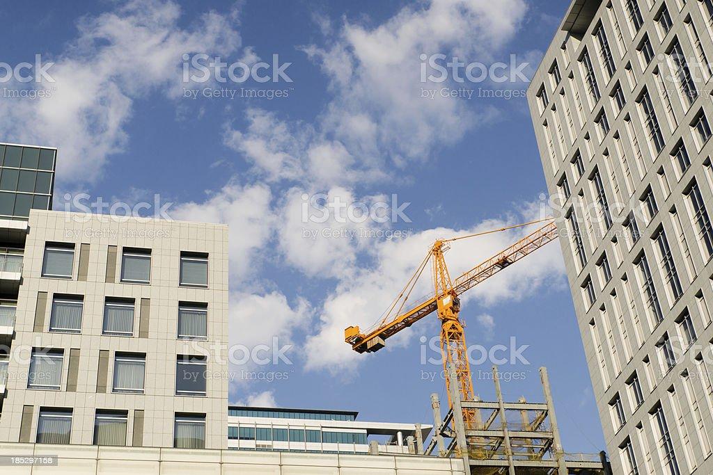 Crane derrick royalty-free stock photo