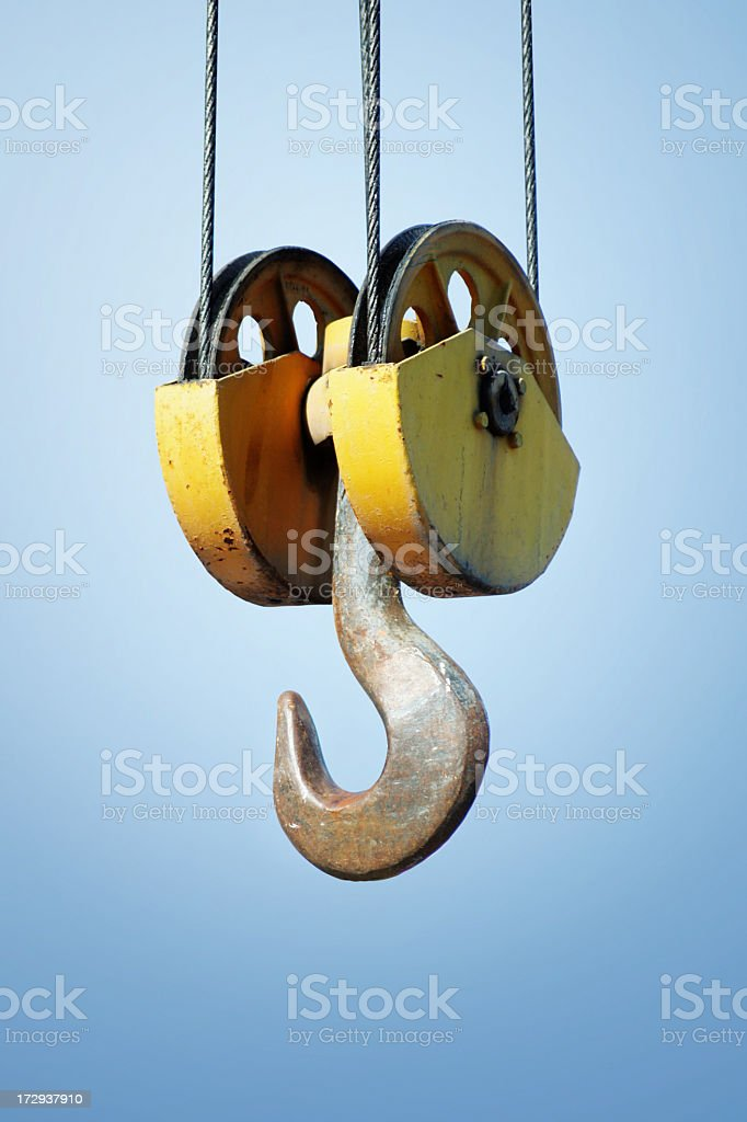 Crane detail isolated with PATH royalty-free stock photo