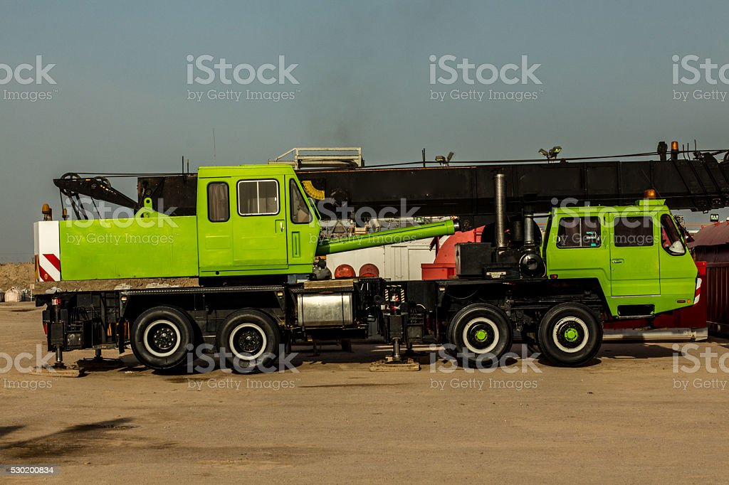Crane for heavy lifting stock photo