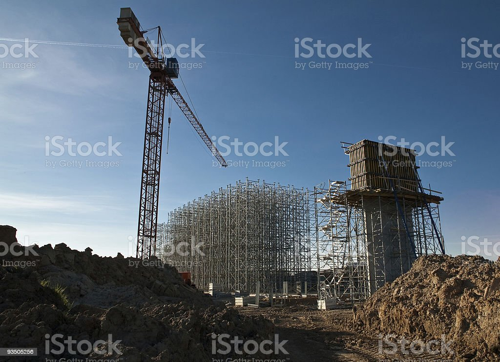 Crane from bellow stock photo