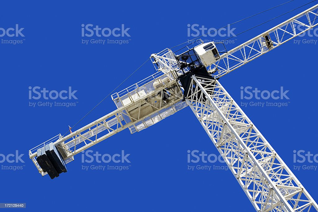 Crane from below royalty-free stock photo