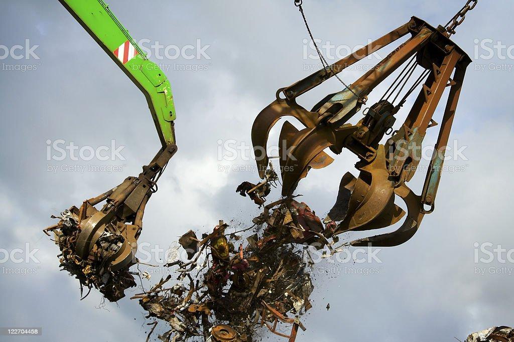 crane grabber royalty-free stock photo